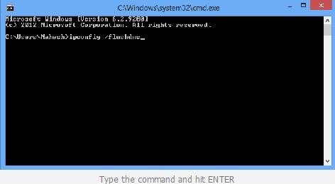 CMD Flush DNS